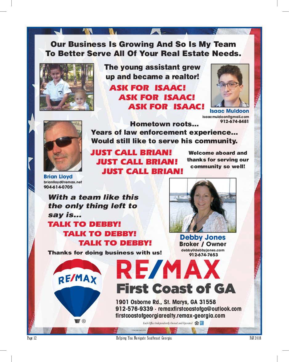 Years of law enforcement experience in Saint Marys, GA, Real Estate